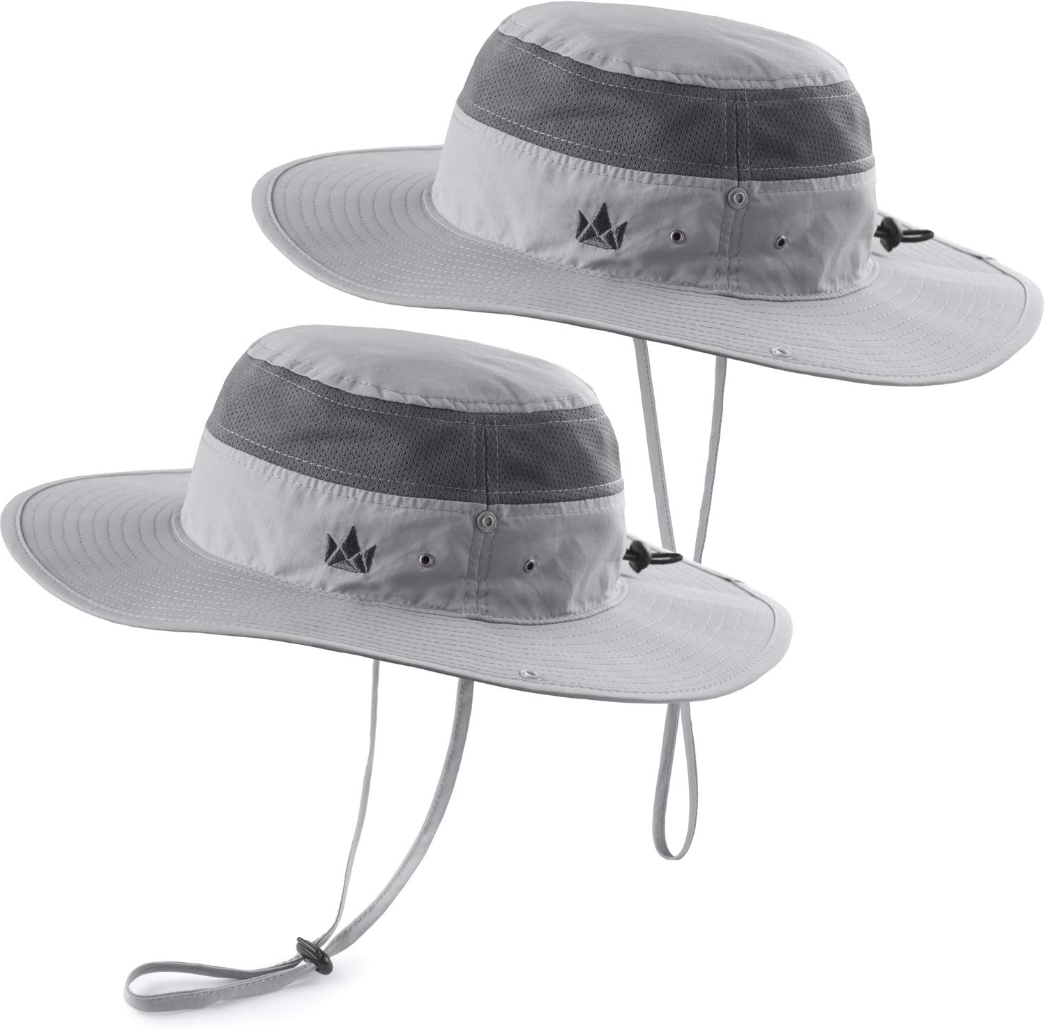 The Friendly Swede Sombrero de Pescador para Actividades al Aire Libre con Inserciones de Red y Logo Bordado Pack de 2