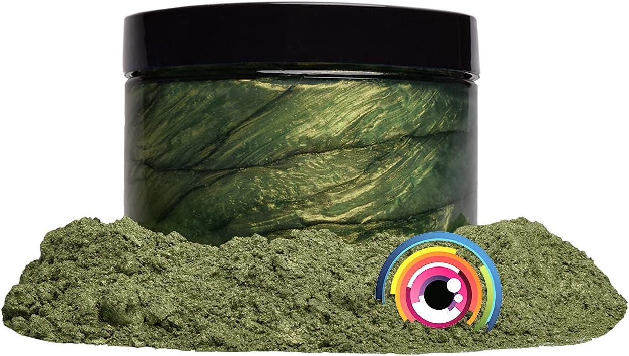 "Mica Powder Pigment ""Matcha Green"" (50g) Multipurpose DIY Arts and Crafts Additive   Woodworking, Natural Bath Bombs, Resin, Paint, Epoxy, Soap, Nail Polish, Lip Balm (Matcha Green, 50G)"