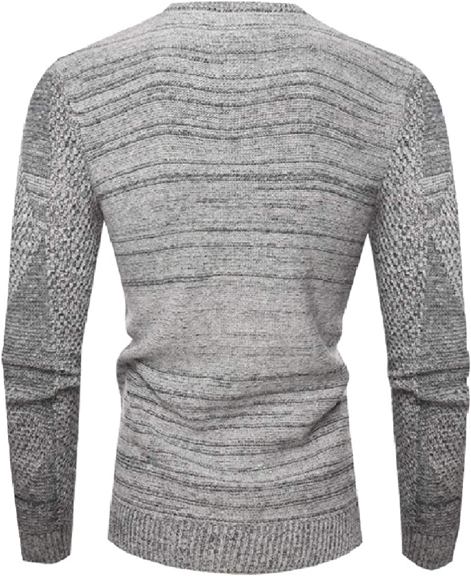 Nicelly Mens Classic Crewneck Knitted Chic Soft Pure Color Casual Pullover Sweater