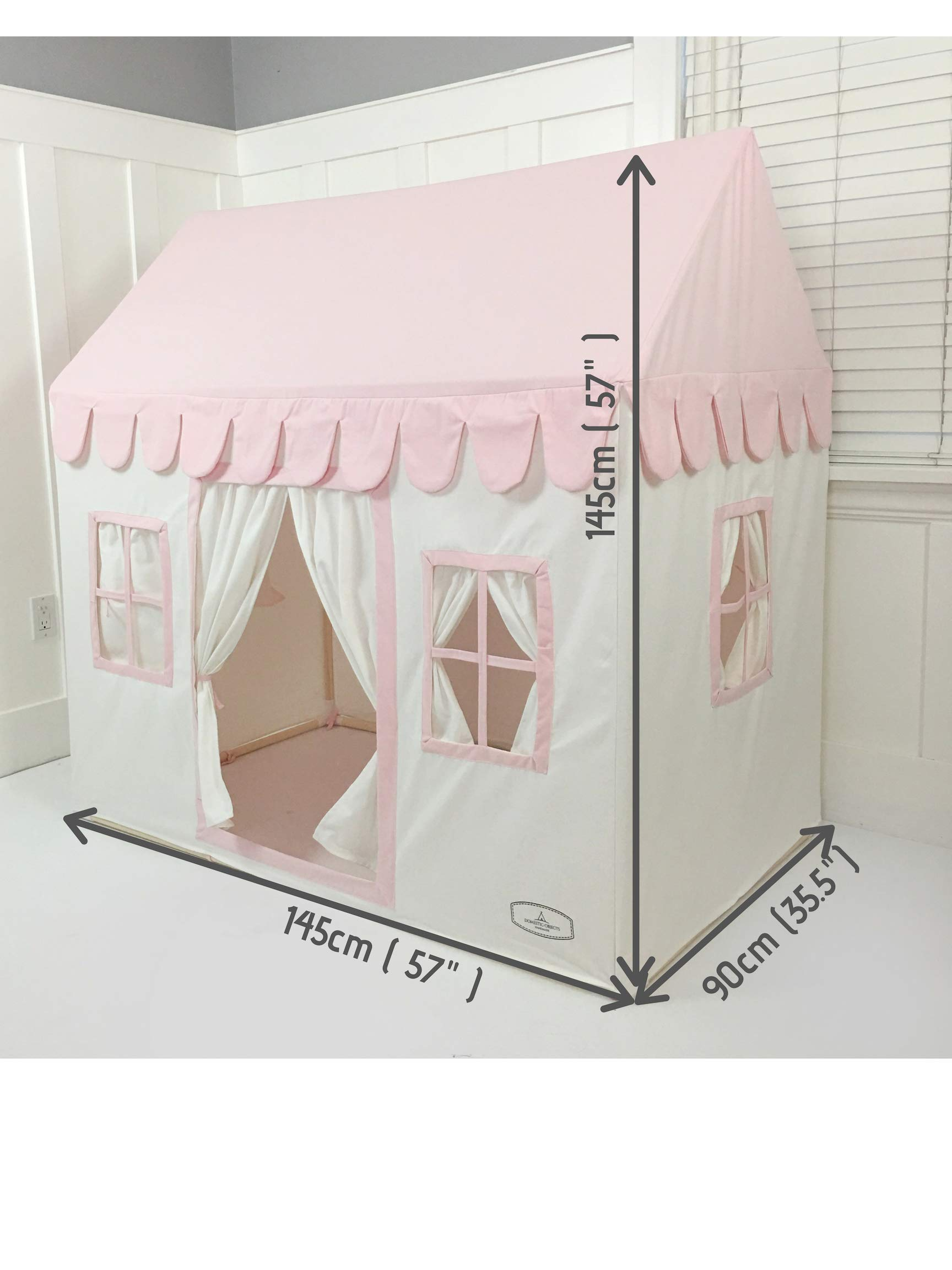 Domestic Objects Children's Playhouse. Handmade with 100% Cotton Premium Quality. Pink by Domestic Objects (Image #6)