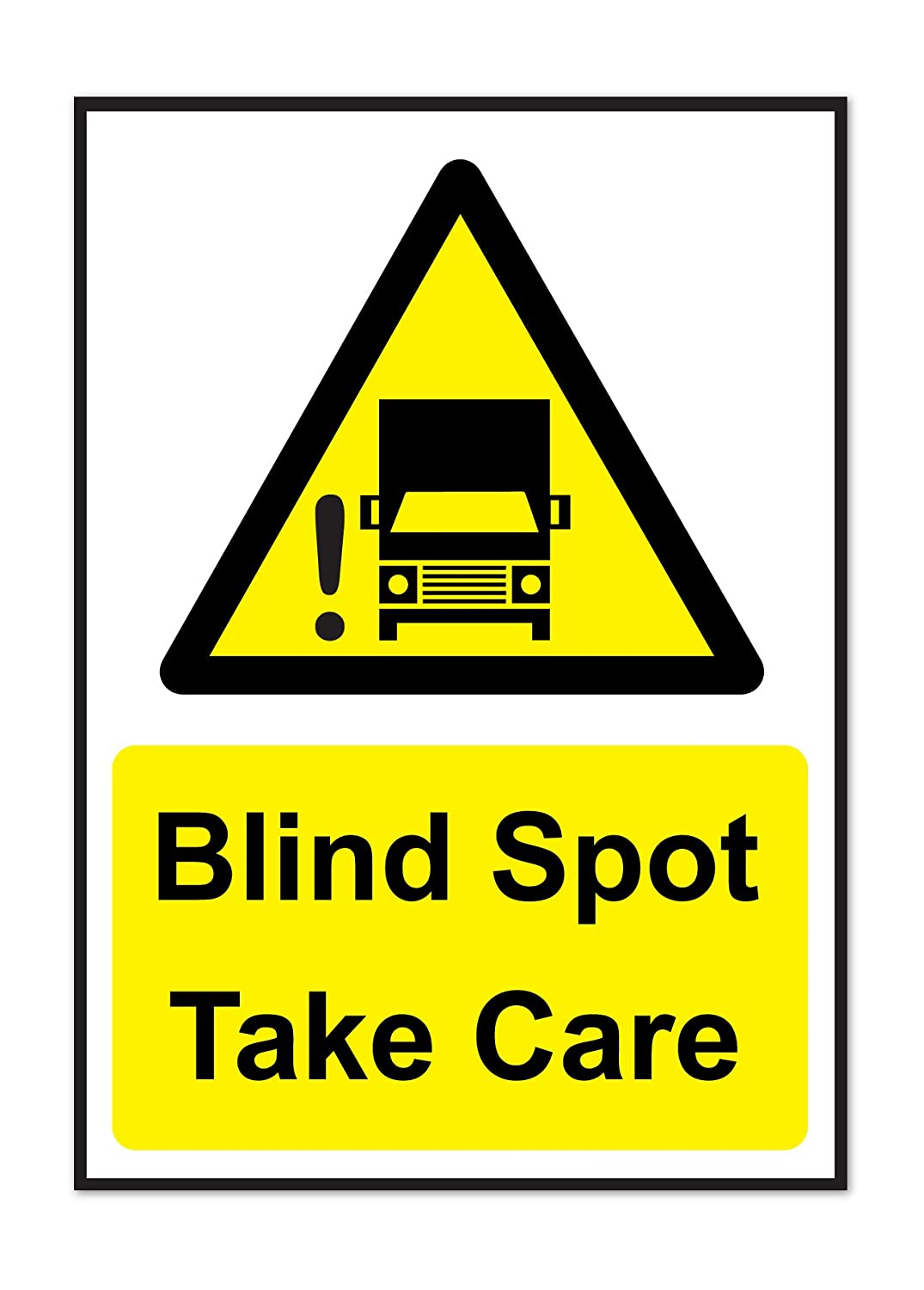 LORRY//VAN//TRUCK//BUS HEALTH AND SAFETY VINYL STICKER TAKE CARE A4 BLIND SPOT