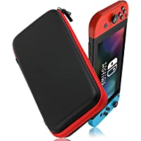 PUBAMALL Funda de para Transportar la Nintendo Switch,Carry Case para la Nueva Nintendo Switch (Negro y Rojo)