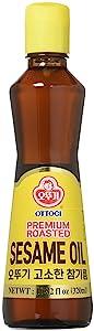 [OTTOGI] Premium Roasted Sesame Oil, 100% Pure Sesame Oil, Tradtional Korean Style oil (10.82 fl oz. 320ml)