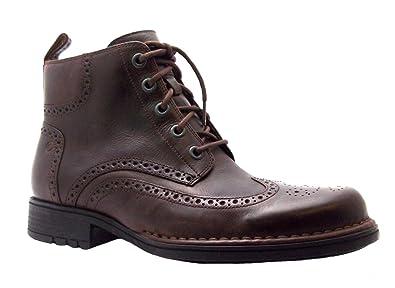 b6b0d3be7e913 Size 7.5 Men's K72973 Rockport Brown Lace Up Leather Wingtip Brogue Boots