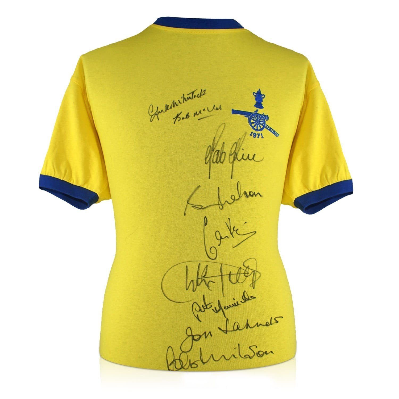 exclusivememorabilia.com Camiseta de Fútbol del Arsenal firmada por la escuadra de la FA Cup de 1979: Amazon.es: Deportes y aire libre