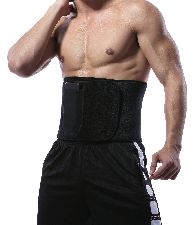KIWI RATA Premium Neoprene Waist Trimmer Belt Hot Sweat Slimming Body Shaper Wrap for Fat Burner,for Men Women