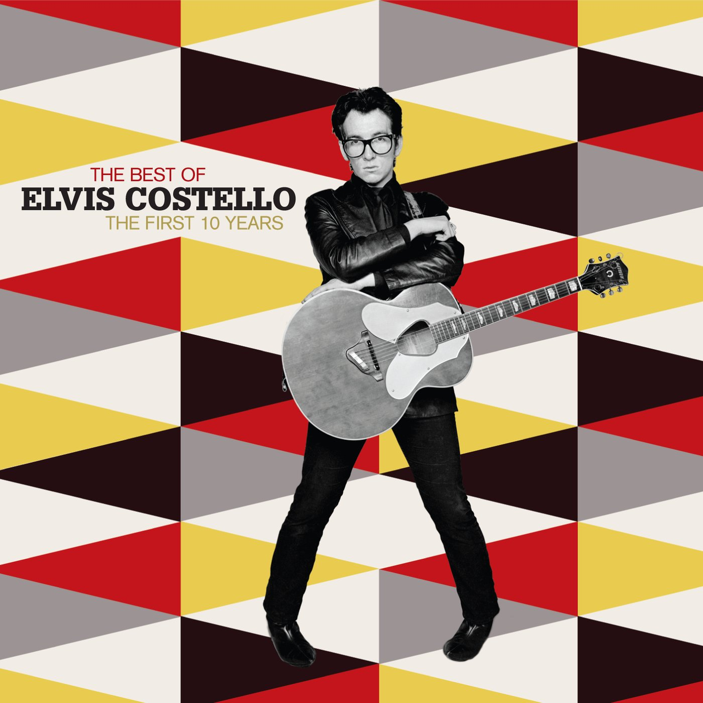 ELVIS COSTELLO personally signed THE BEST OF THE FIRST 10 YEARS CD cover