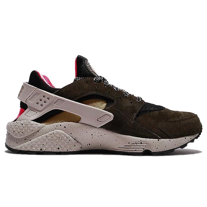 3a50eeaf56403 NIKE Men's Shoes Low Sneakers 704830 010 AIR Huarache Run PRM Size 40 Green