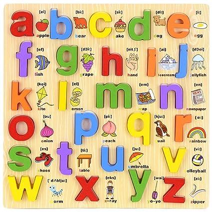 Amazon com : Taylor Gre Wooden Letters Puzzles Alphabet
