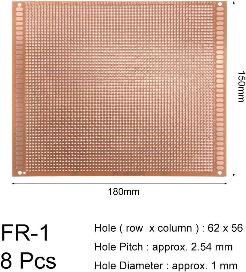 sourcing map 12x18cm universel simple face circuit imprim/é souder bricolage 10pcs