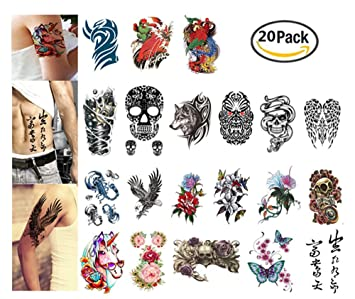 Amazon Com Arm Tattoos Set By Garloy 20 Pcs Henna Tattoo Designs