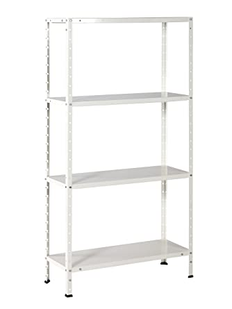 etagere metal blanc x 75 x 30 cm. Black Bedroom Furniture Sets. Home Design Ideas