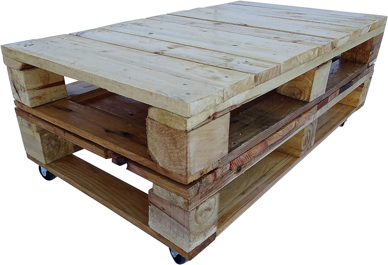 Mesa de Madera de Palet Estilo Rustico para Jardin & Terraza Tomar ...