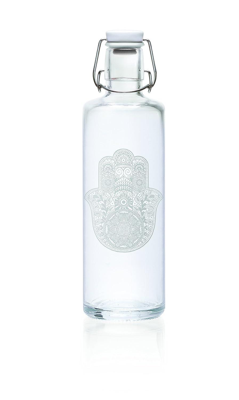 Soulbottles 1,0l Trinkflasche aus Glas Verschiedene Designs, Made in Germany, Vegan, plastikfrei, Glastrinkflasche, Glasflasche (Cactuspower) soulproducts GmbH
