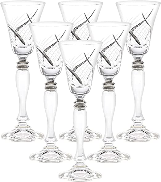 Amazon Com Glazze Crystal Rmc 078 Pl Set Of 6 Handcrafted