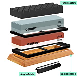 CWINDY 3000/8000, 400/1000 Grit Knife Sharpening Stone Review