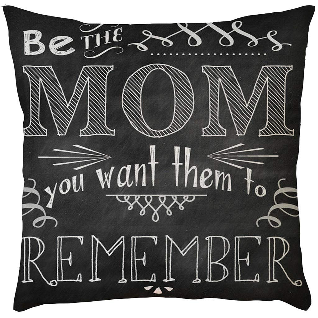 2019 EOWEO Happy Mother's Day Sofa Bed Home Decoration Festival Pillow Case Cushion Cover(43cm×43cm,F)
