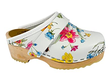 Original Schwedenclogs Damenclogs Standardclogs Modell Mini Summerflower MB Clogs HNFhj