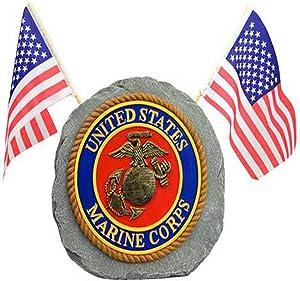 Red Carpet Studios Patriotic Military Garden Stone, Marines