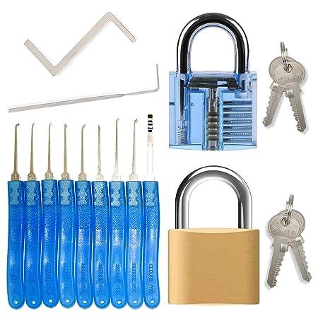 Lock Pick Set For Beginners Professionals 15 Piece Locksmith