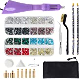 Hotfix Applicator Tool, Bedazzler Kit with DIY Hot Fix Rhinestones Include 7 Tips, Support Stand Tweezers Cleaning Brush…