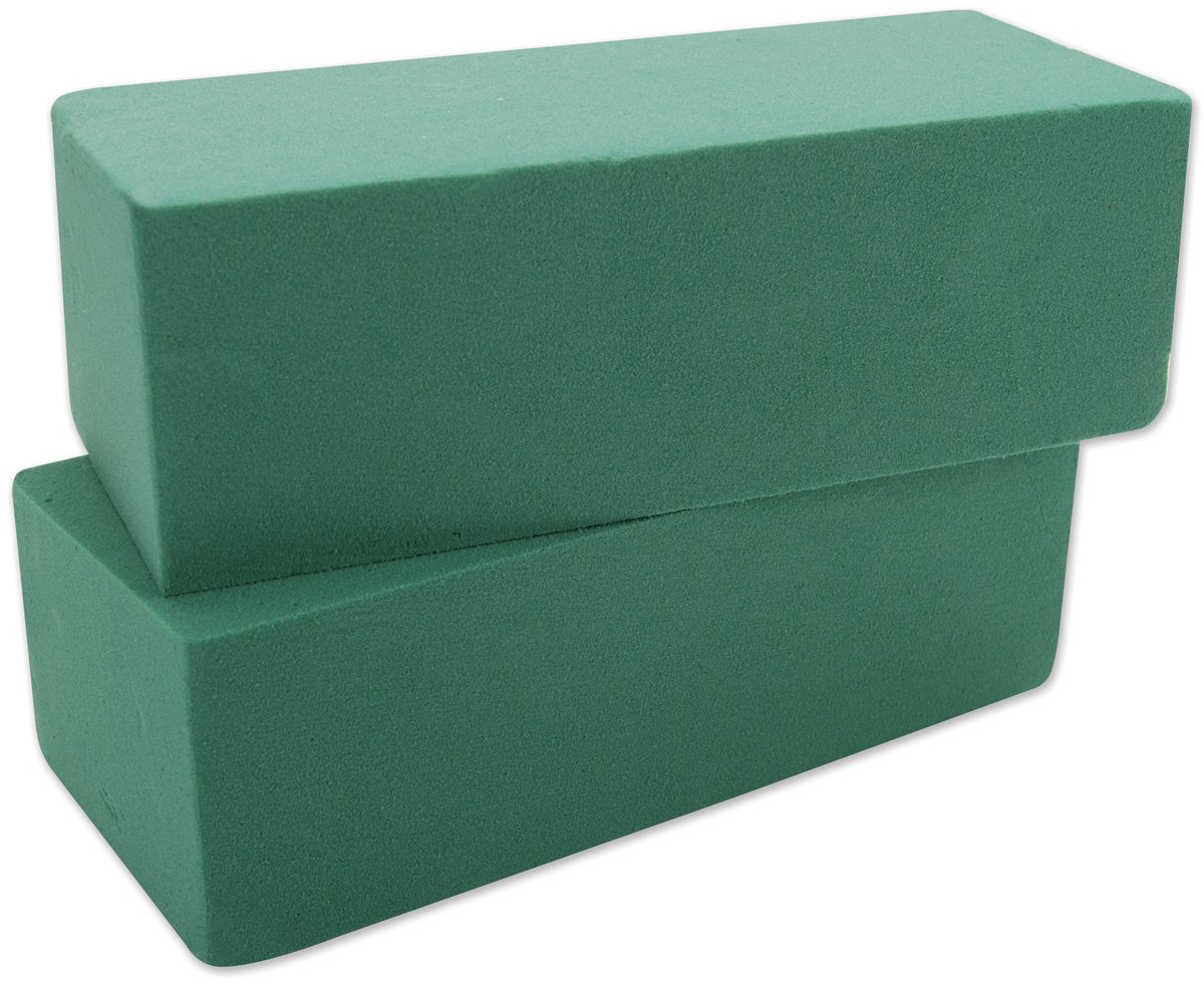 Wet Foam Blocks 2-7//8X3-7//8 X8-7//8 2//Pkg-Green