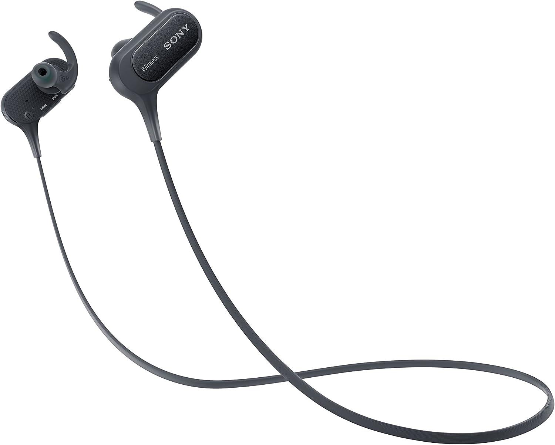 Sony MDRXB50BSB.CE7 - Auriculares Deportivos in-Ear Bluetooth (Extra Bass, NFC, LDAC, Manos Libres para Apple iPhone y Android, autonomía de 8,5 h), Color Negro
