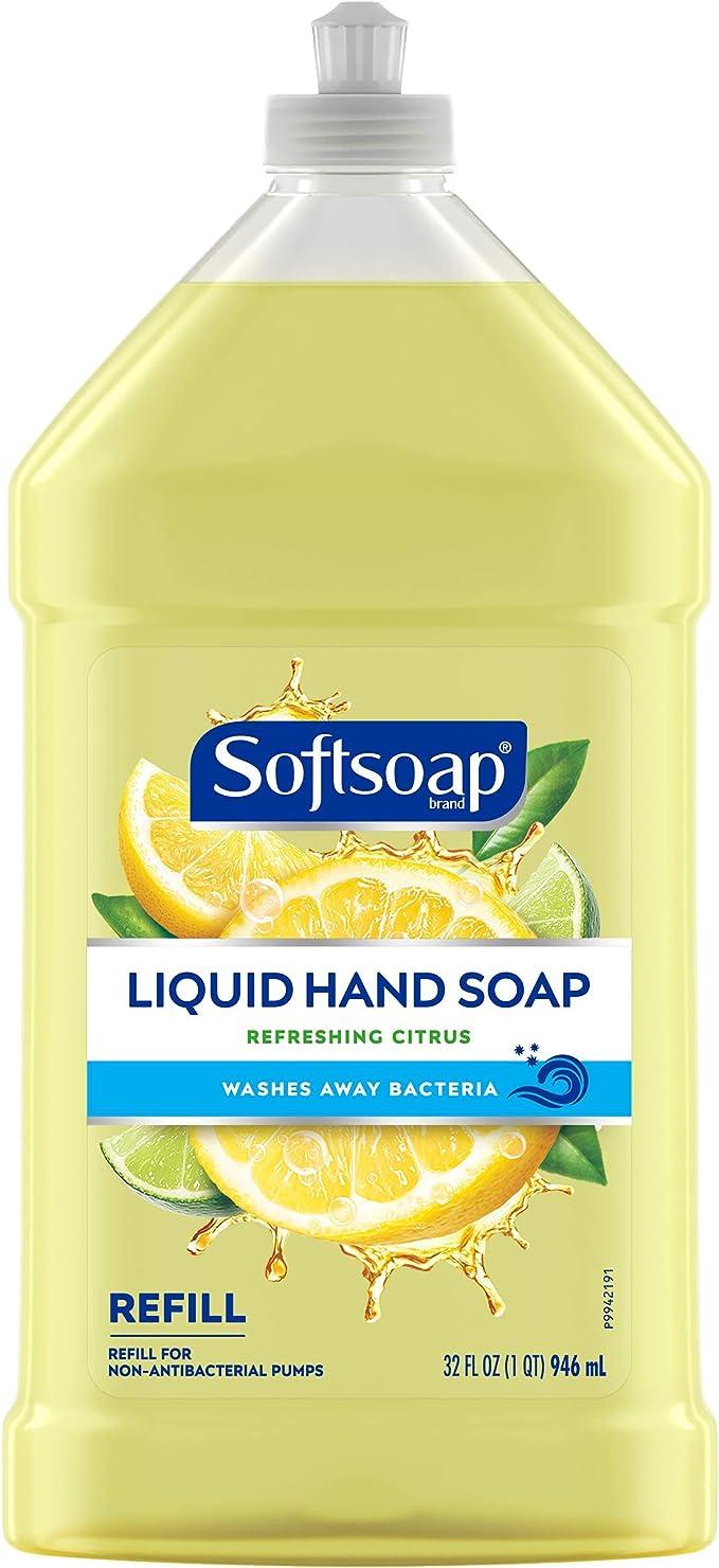 Softsoap Liquid Hand Soap Refill, fresh,citrus, 32 Fl Oz   Amazon