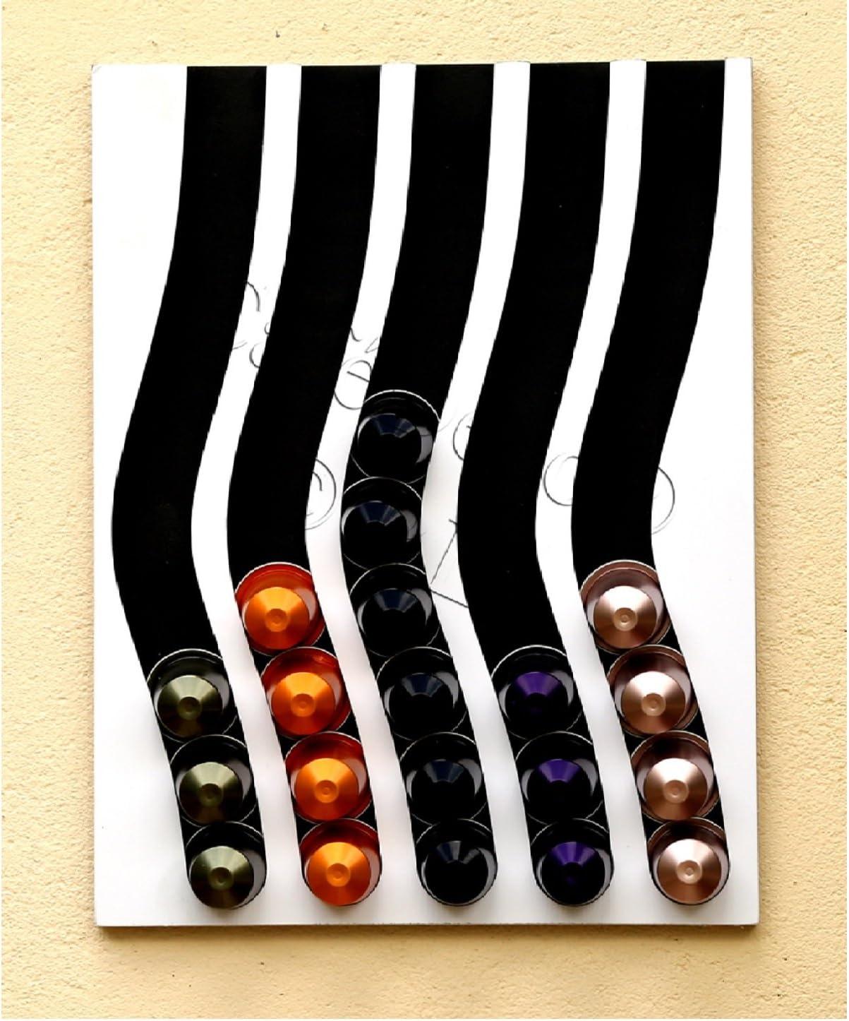 Dispensador de cápsulas nespresso, 50 cápsulas (negro e blanco ...