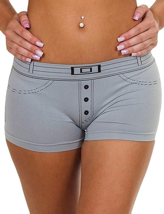 96b9dc3e6e3f Love My Fashions®Ladies Knickers Pants Womens Denim causal Cotton Style Underwear  Boxer Shorts Summer Size S M L XL
