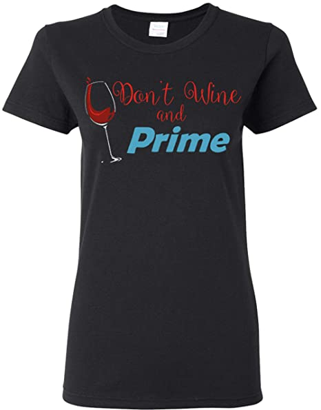 2f69c01d Lavonne Co. Wine and Prime Funny Shopping T-Shirt at Amazon Women's Clothing  store: