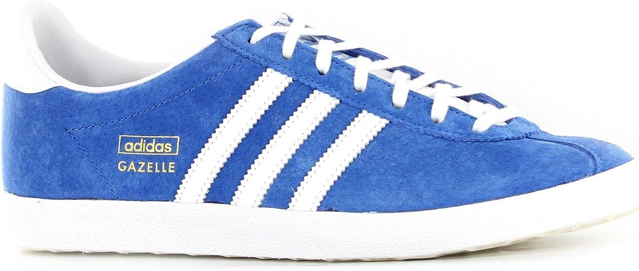 Adidas Gazelle OG Blue White Mens Trainers Size 11 UK: Amazon.co ...