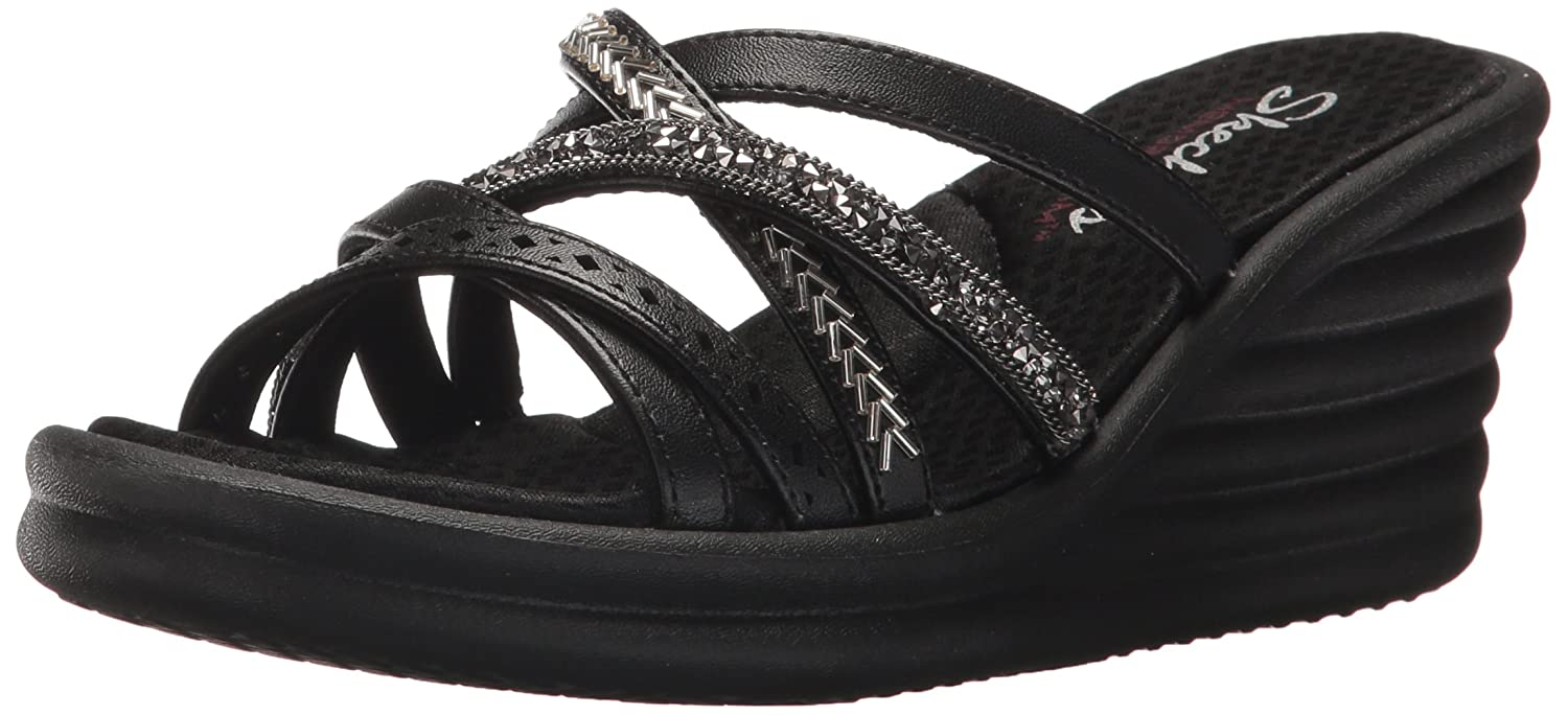 Skechers Cali Women's Rumbler Wave-New Lassie Slide Sandal B0755W5D4X 7 B(M) US|Black