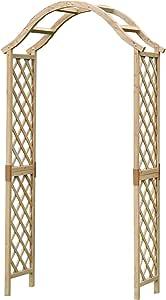 Selection GFH798 - Arco de madera para jardín con parte superior curva: Amazon.es: Jardín