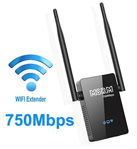 Amazon Com Msrm Us750 750mbps Wifi Repeater Double Coverage Dual