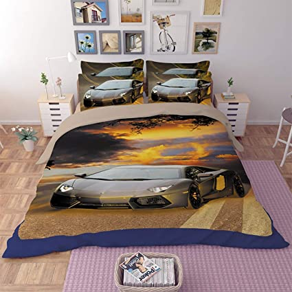 LBHE Cotton Duvet Cover Set,Lamborghini