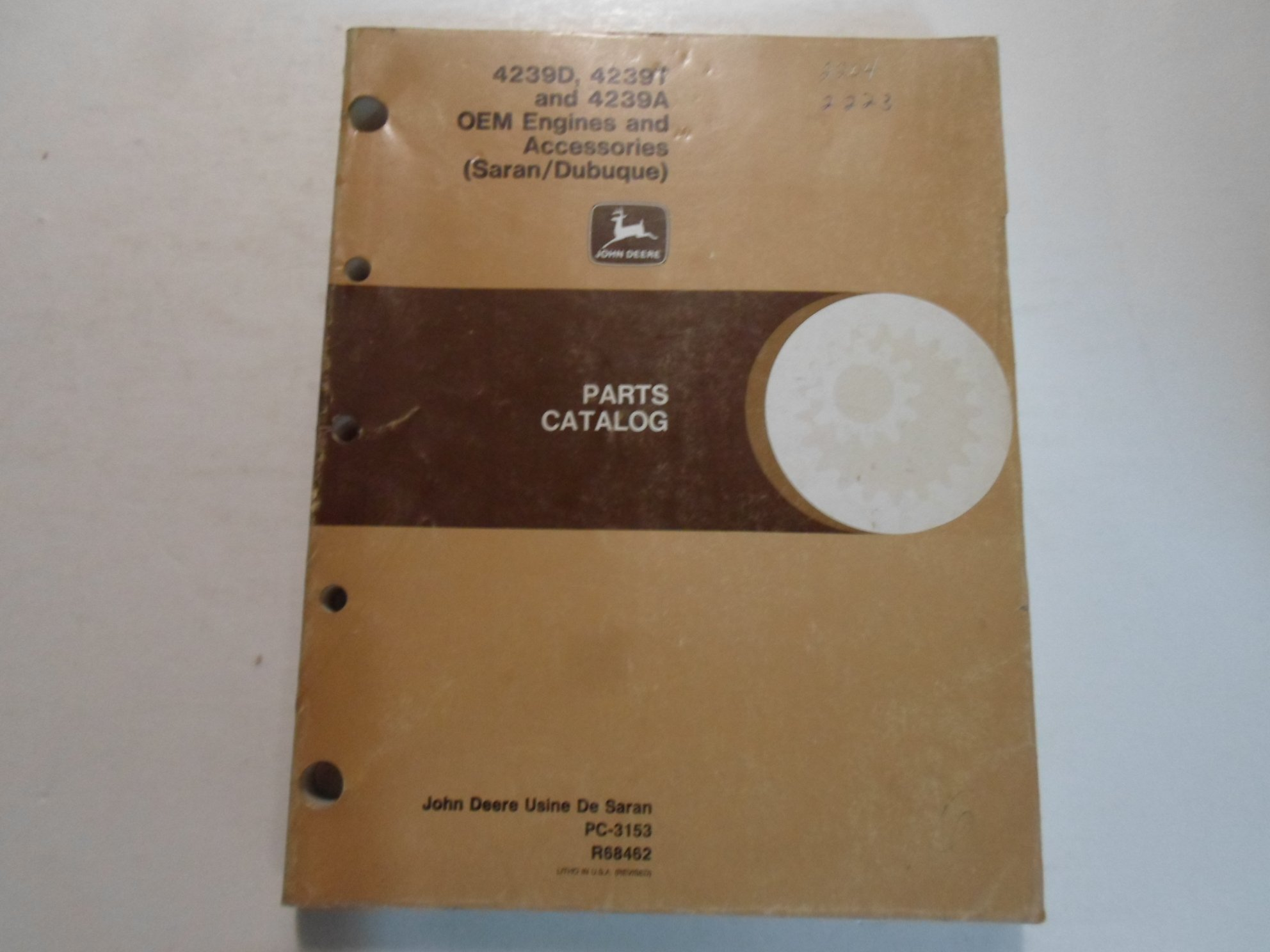 John Deere 4239D 4239T 4239A OEM Engines & Accessories Parts Catalog Manual  WORN: LITHO: Amazon.com: Books