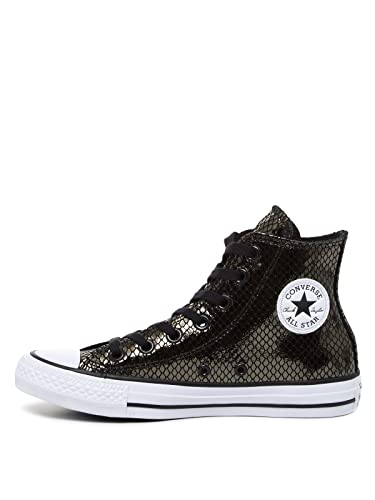 371f1abb38 Converse Chuck Taylor All Star HI Women's Shoes Mettalic Snake Black/White  555966c (5