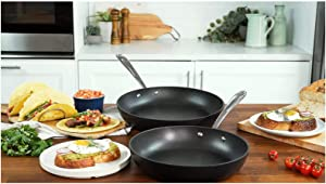 All Clad HA1 Hard Anodized Nonstick 2 Piece Fry Pan Set 10.5
