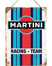 Martini Racing – Réplica Vintage Placa metálica para la Pared Retro Pub Bar Mancave Garaje cobertizo