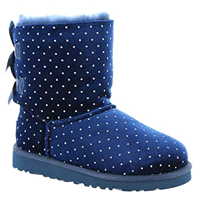 Ugg Kid\u0027s Bailey Bow Starlight Boot (3 Little Kid M, Navy)