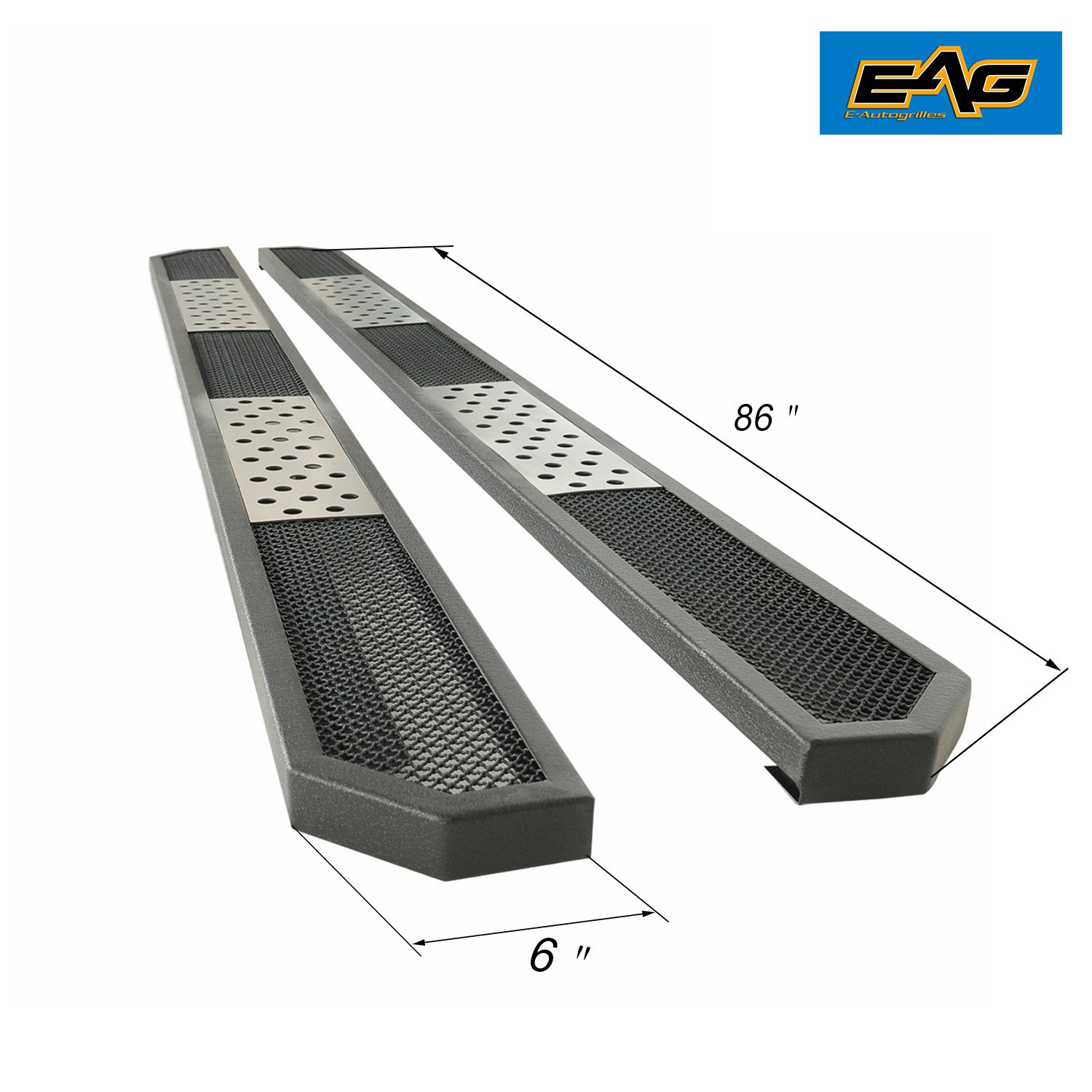 EAG 86'' Evolution Running Board and Brackets for 99-16 Super Duty Super Crew