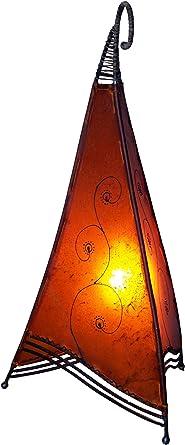 Guru-Shop Lámpara Henna, Lámpara de Mesa de Cuero/Lámpara de ...