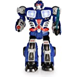 Happkid Cybotronix Electronic Walking Robot with Lighted Dual Screen and Weapons for Kids from 3 years