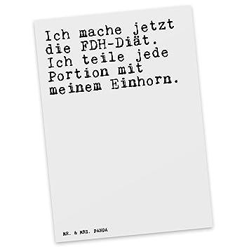 Mr Mrs Panda Postkarte Mit Spruch Ich Mache Jetzt Die Fdh Diat