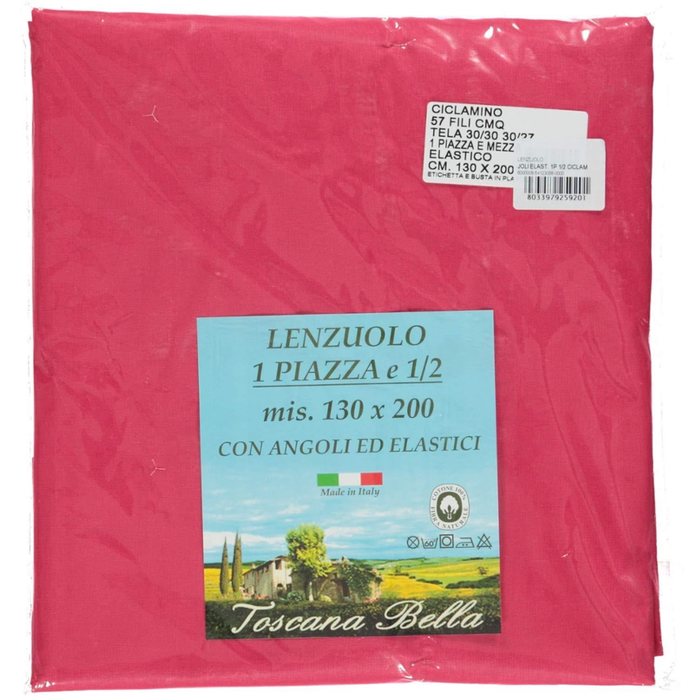 TOSCANA BELLA Made in Italy Cotone Bordeaux 120 x 200 cm Lenzuola Una Piazza E Mezza