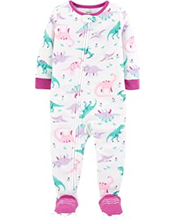 f430bdc02 Amazon.com  Carter s Girls  Toddler 1 Piece Fleece Sleepwear  Clothing