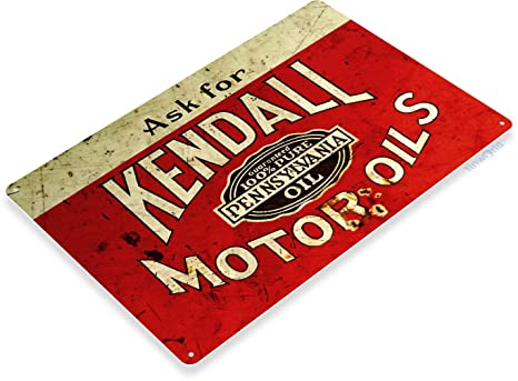 Amazon.com: Tin Sign B725 Kendall Aceite de motor Gas ...