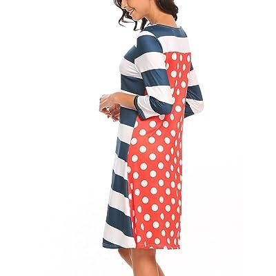 ACEVOG Women's Crewneck Long Sleeve Print Floral A-Line Tunic Dress at Amazon Women's Clothing store