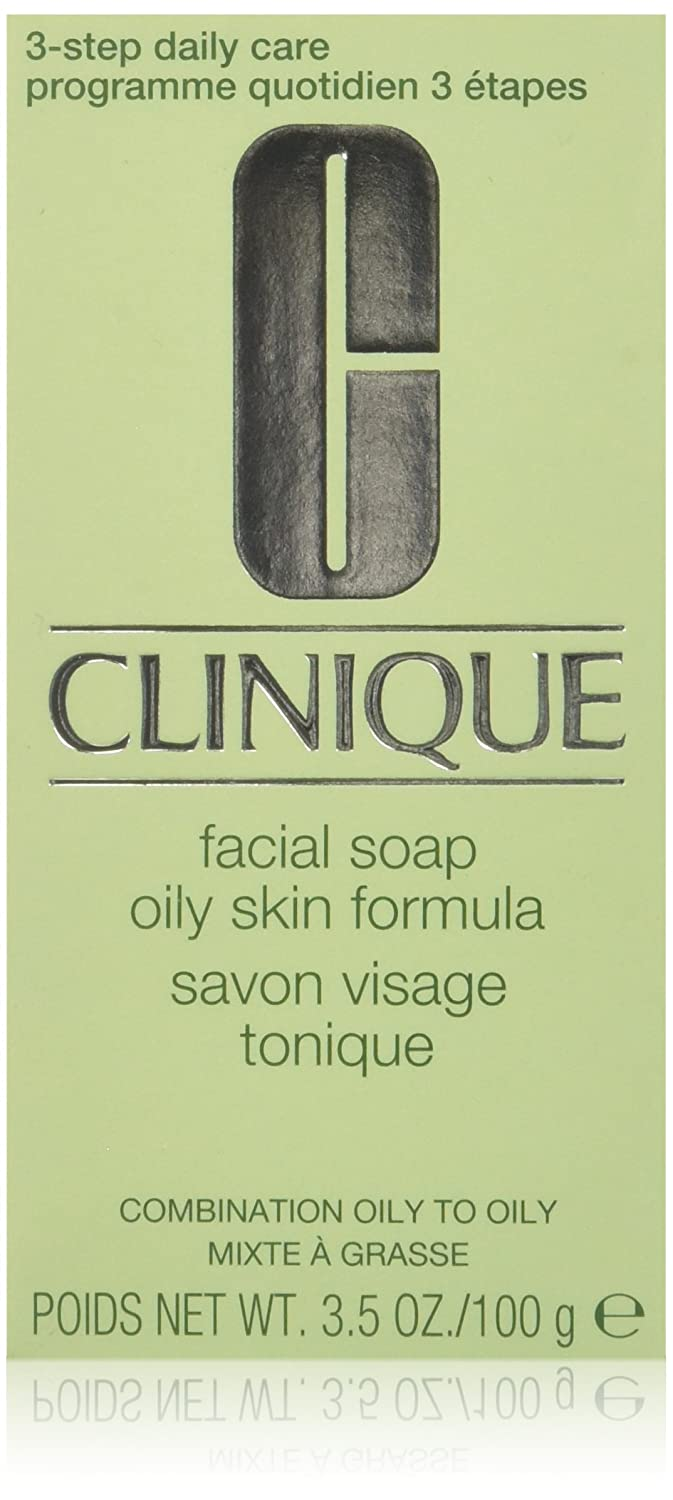 Cleansers & Makeup Removers by Clinique Facial Soap Oily Skin Formula without Soap Dish for Combination Oily to Oily Skin / 3.5 oz. 100g